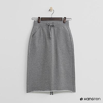 Hang Ten - 女裝 - 休閒鬆緊棉質中長裙-灰