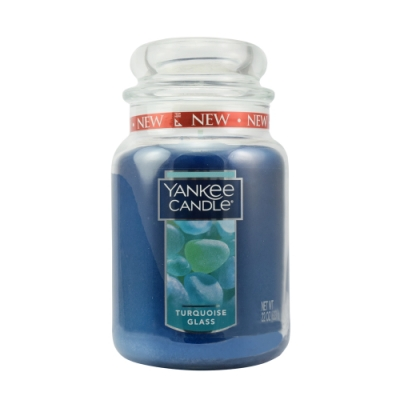 YANKEE CANDLE 香氛蠟燭-綠松石玻璃623g