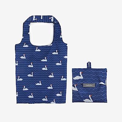 Dailylike 摺疊購物袋單肩包L-02小鴨藍湖