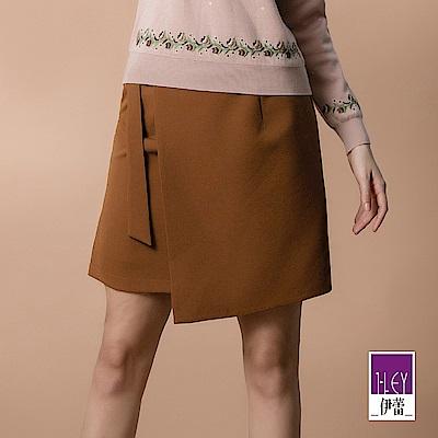 ILEY伊蕾 活片造型金釦裝飾斜紋棉質褲裙(可)