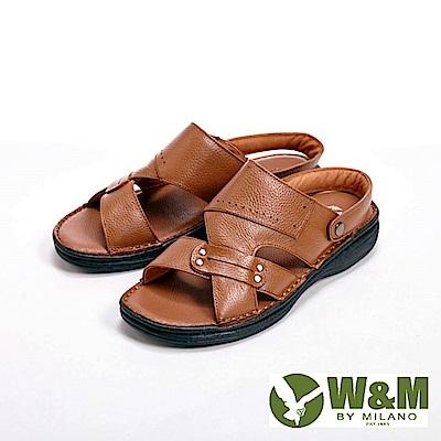 W&M寬帶防滑軟墊兩用涼拖鞋 男鞋-棕(另有咖)