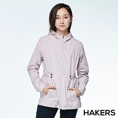 【HAKERS】女款  3L輕量休旅外套(紫羅蘭)