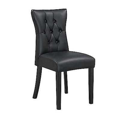 AS-巴特黑皮胡桃餐椅-42x54x91cm