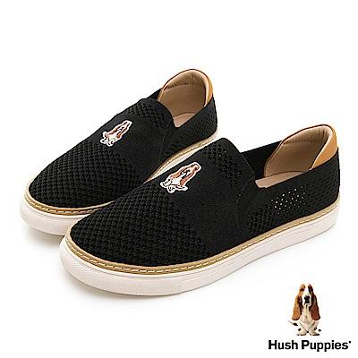 Hush Puppies Puppy 針織直套便鞋-黑