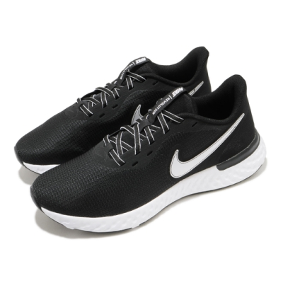 Nike 慢跑鞋 Revolution 5 EXT 運動 男鞋 輕量 透氣 舒適 避震 路跑 健身 黑 白 CZ8591001
