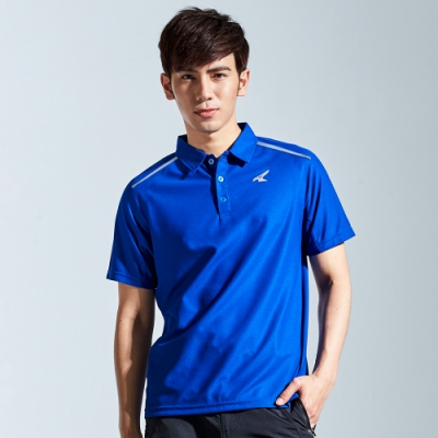 【AIRWALK】簡約設計吸排POLO衫-藍色
