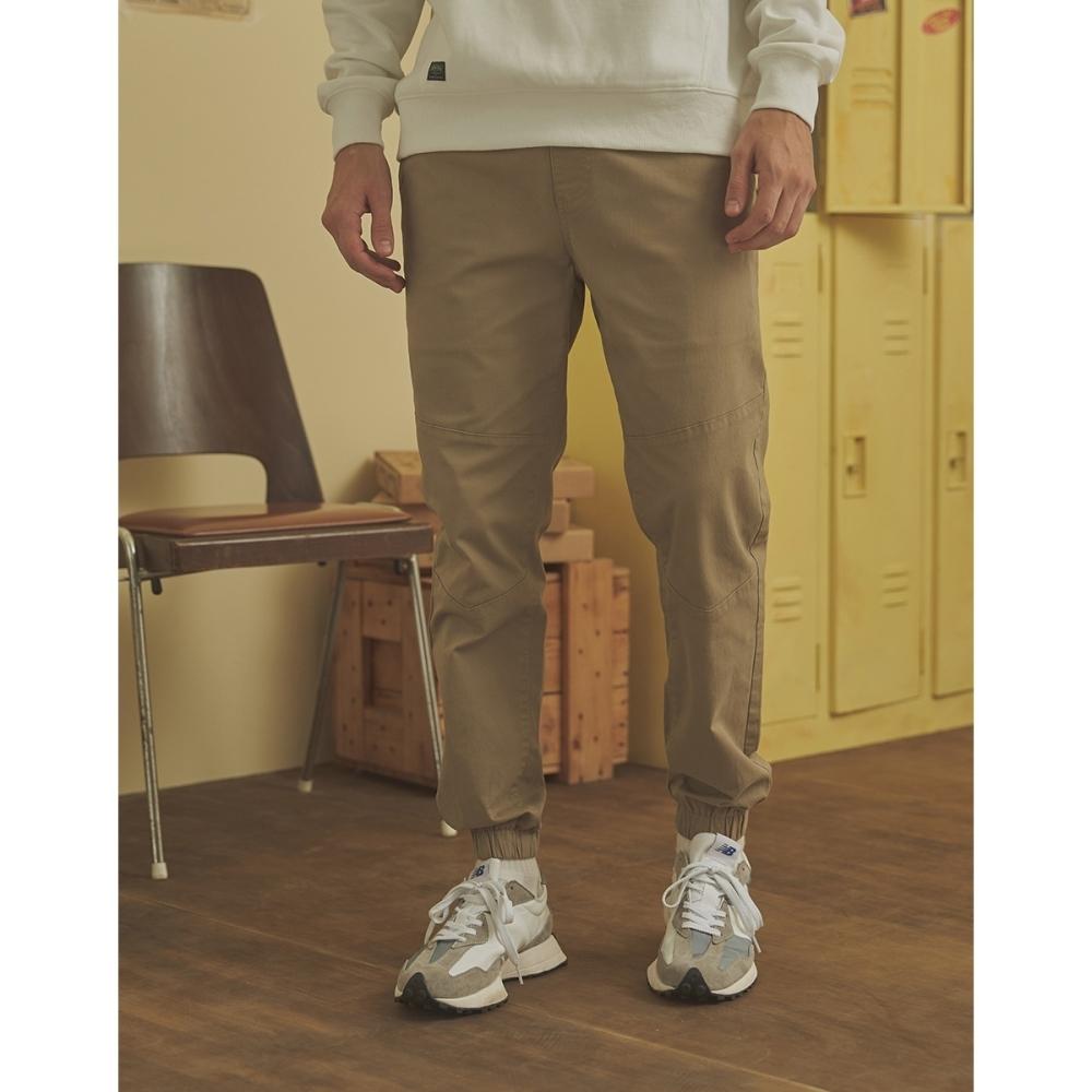 CACO-剪接V型束腳褲(三色)-情侶款-男【A1AR033】