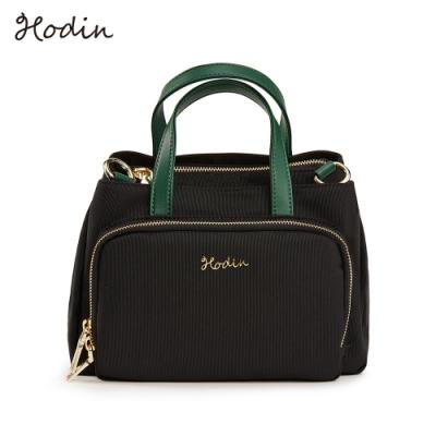 【Hodin】Daily野餐手提小包/肩背包/斜背包(黑色153029BK)