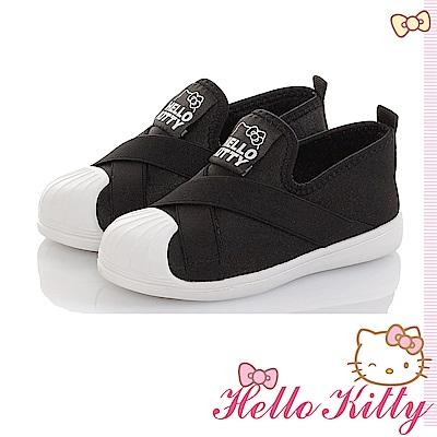 HelloKitty童鞋輕量減壓抗菌防臭懶人繃帶鞋-黑