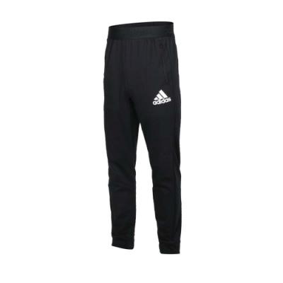 ADIDAS 男休閒長褲-吸濕排汗 針織 慢跑 路跑 亞規 愛迪達 GM3214 黑白