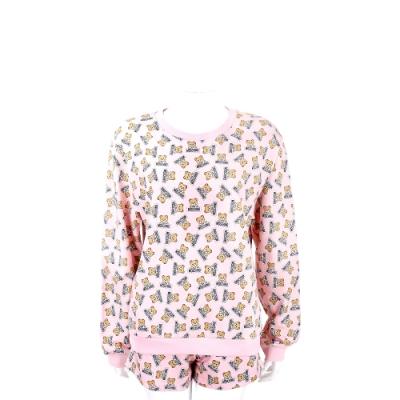 MOSCHINO Underwear 滿版泰迪熊粉色棉質短褲套裝