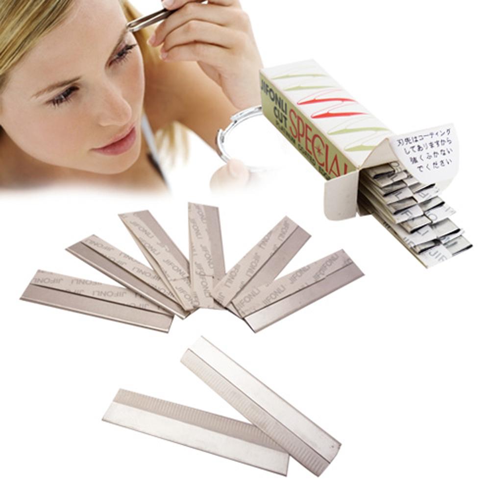 kiret日本專業修眉刀片10入-不鏽鋼羽毛刀片/修臉、除毛