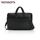 vensers 小牛皮潮流個性包~公事包(N6392101黑色)