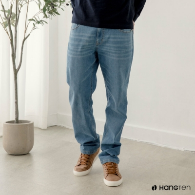Hang-Ten-男裝-環保再生紗-經典款STRAIGHT FIT直筒中腰丹寧褲