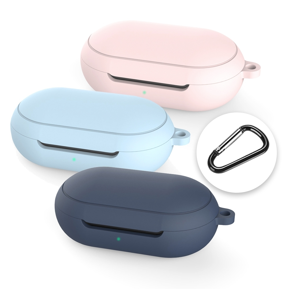 【SAMSUNG 三星】Galaxy Buds/Buds+ 真無線藍牙耳機專用 矽膠保護套(附扣環)