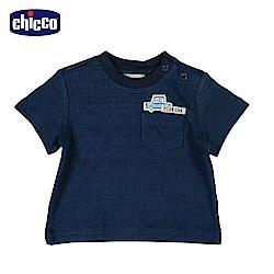 chicco-車車旅遊趣-短袖上衣-青