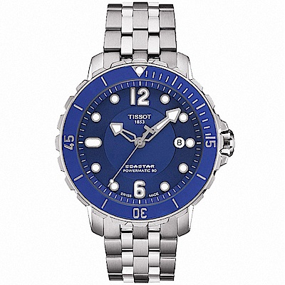 TISSOT天梭 Seastar 1000 海洋之星潛水專業機械錶-藍/42mm