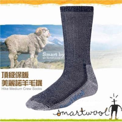 SmartWool 美麗諾羊毛 中高筒健行厚羊毛襪(2入)_海軍藍