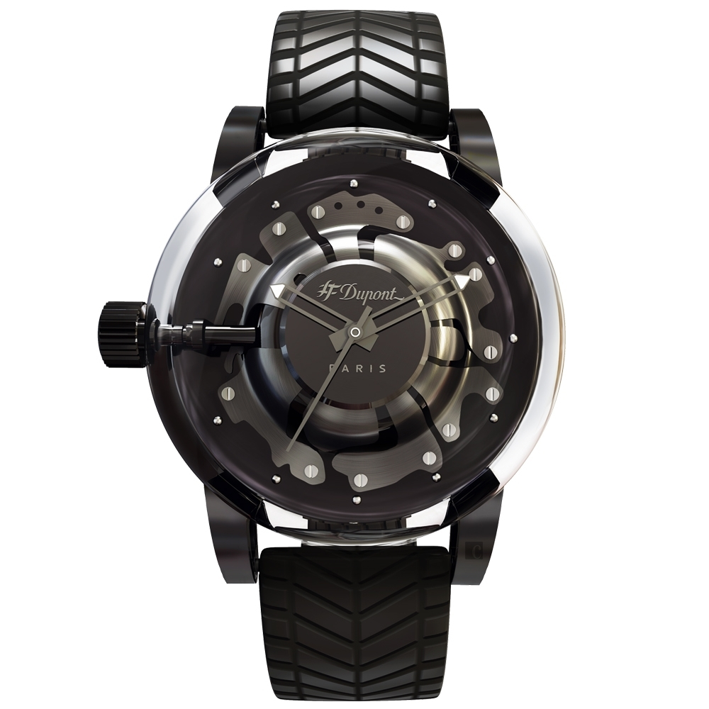 S.T.Dupont 都彭  HYPERDOLME系列 法式工藝石英錶-43mm  065127F