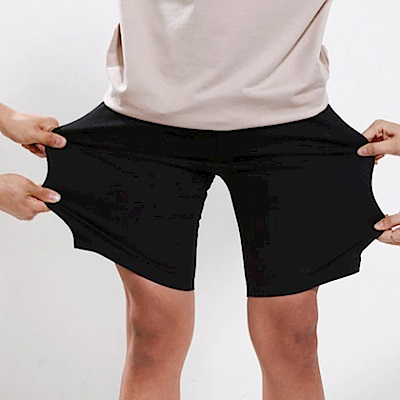 BuyGlasses 韓感超大彈力素色休閒短褲