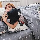 戀家小舖 / 雙人加大床包兩用被套組  奧樂雞的遊樂園  100%精梳棉  台灣製