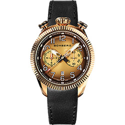 BOMBERG 炸彈錶 BB-68 計時手錶-煙燻棕x玫瑰金框/44mm