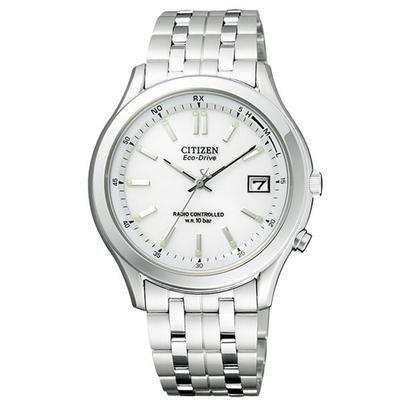 CITIZEN 詮釋自我光動能電波腕錶(銀白)-FRD59-2392