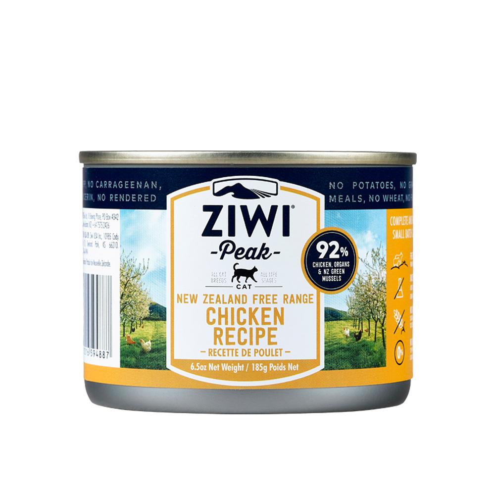 ZiwiPeak巔峰 92%鮮肉貓 雞肉 185G (三箱36罐)
