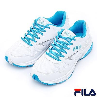 FILA女慢跑鞋-白水藍5-J028R-133