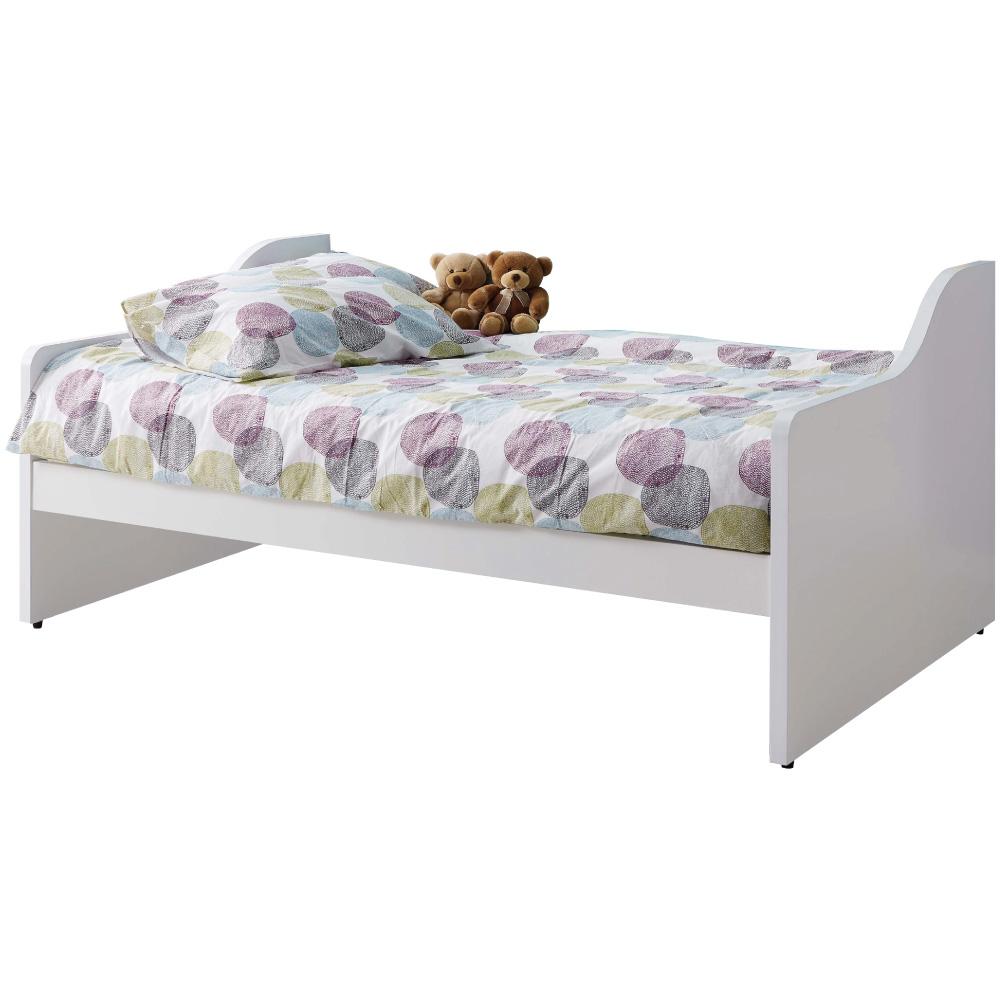 文創集 柯利森簡約白3.5尺單人床台(不含床墊)-112.5x195x90cm免組 @ Y!購物