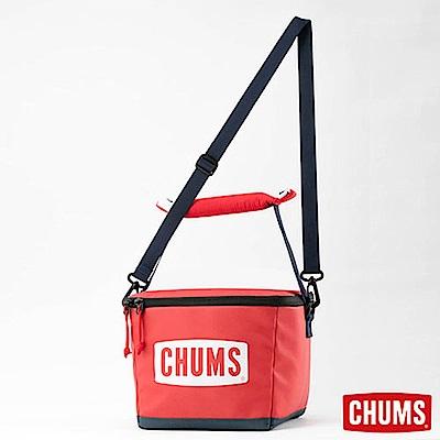 CHUMS 日本 大LOGO 保冷袋(6L) 紅