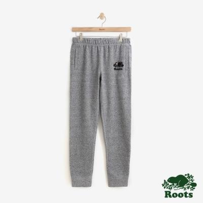 女裝 ROOTS - BUDDY輕刷毛休閒棉褲-灰