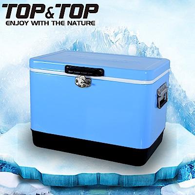 韓國TOP&TOP ICE COOLER 不鏽鋼行動冰箱29L 冰桶 保溫箱 藍色