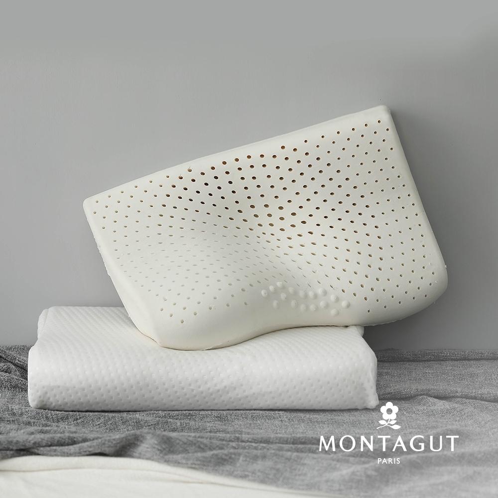 (買一送一)MONTAGUT夢特嬌-護頸乳膠枕(60x40cm)