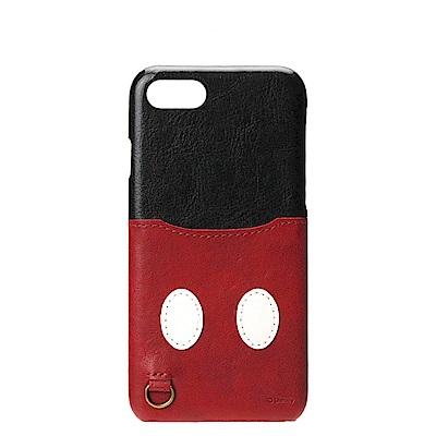 iPhone 8/7 海外限定 迪士尼 皮革插卡口袋 手機硬殼 4.7吋-米奇