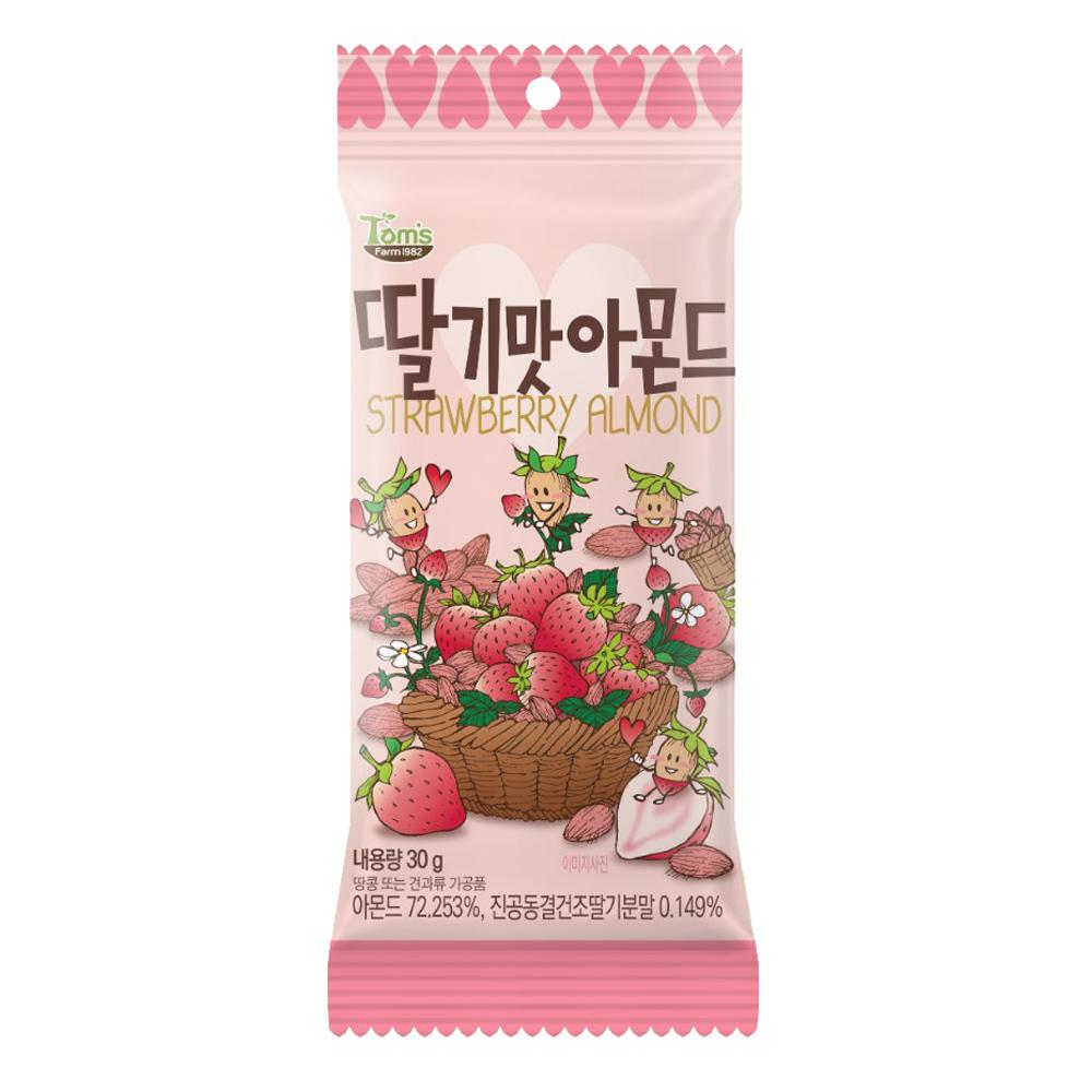 韓國Toms Gilim 杏仁果-草莓味(30g)
