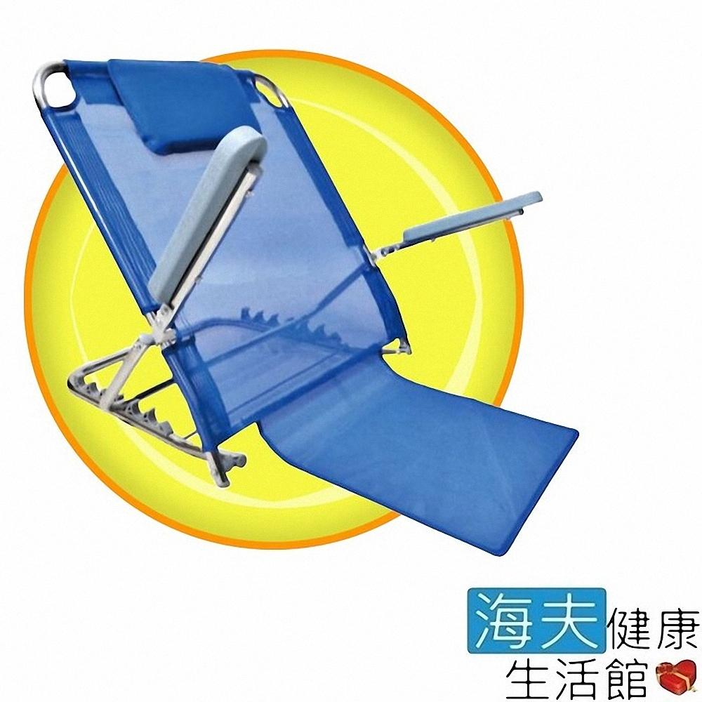 海夫健康生活館 不鏽鋼 舒適靠背架 有扶手 網布材質 穩定性高 床上 和室用_ZHCN2040