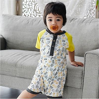 baby童衣 短袖連體衣 多花色休閒兔裝 90042