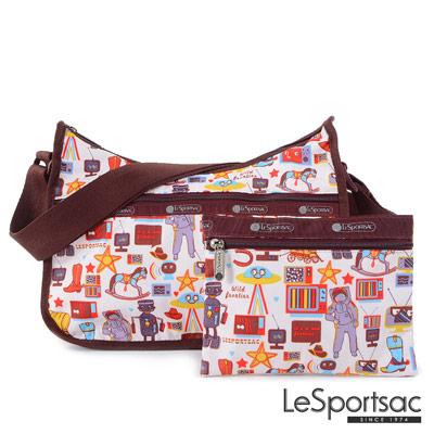 LeSportsac - Standard側背水餃包/流浪包-附化妝包 (太空漫遊)