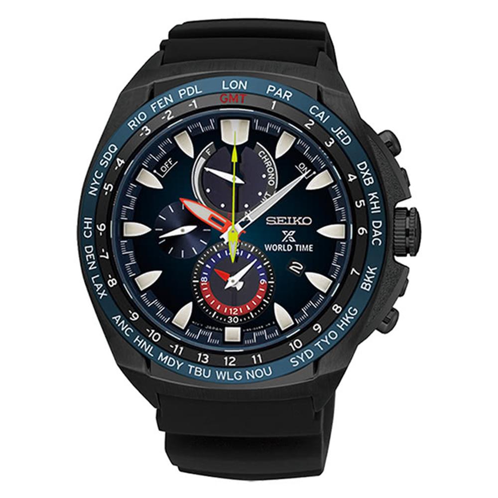 SEIKO精工 Prospex GMT兩地時間光動能錶SSC551P1