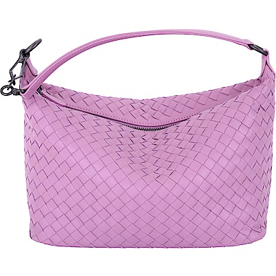 BOTTEGA VENETA 經典小羊皮手工編織肩背包(暮光紫)