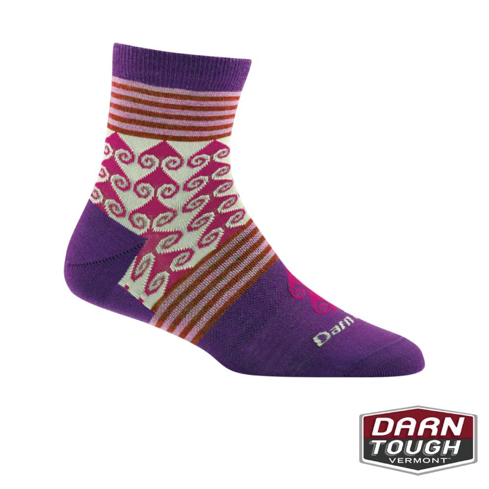 【美國DARN TOUGH】女羊毛襪Swirl Print生活襪(2入隨機)