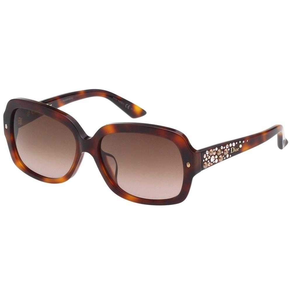 Dior 水鑽珍珠系列 太陽眼鏡 (琥珀色)