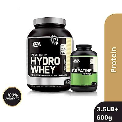 [美國 ON]白金級HYDRO水解分離乳清蛋白(3.5磅)+肌酸600公克