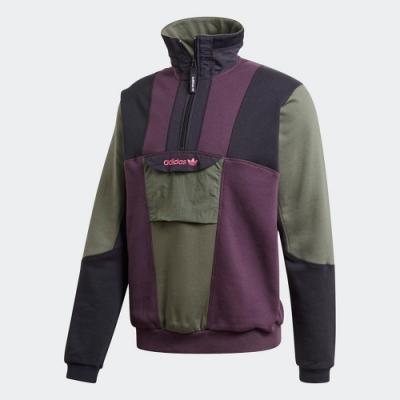 ADIDAS 上衣 長袖上衣 立領 運動 男款 紫綠黑 GD5575 ADVENTURE FIELD HALF-ZIP