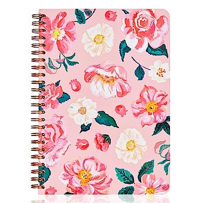 7321 Design 娜塔莉金色環裝筆記本-粉紅秘境