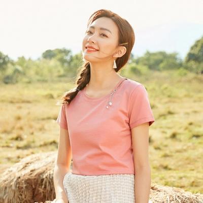 ALLK 縫珠配飾上衣 粉色(尺寸L-XXL)