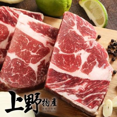 (滿899免運)【上野物產】澳洲沙朗牛排 (100g土10%/片)x1