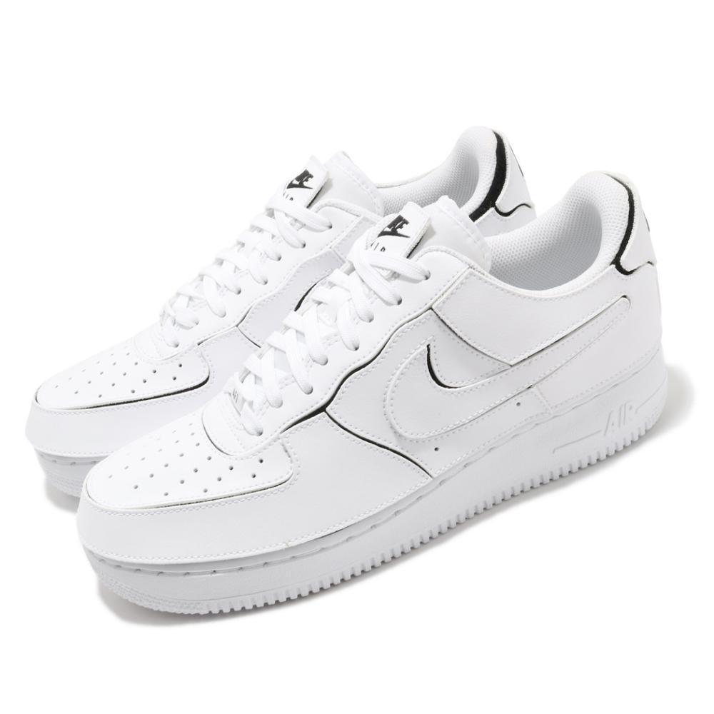 Nike 休閒鞋 AF1 1 可拆式 復古 男鞋 魔鬼氈 可換貼片 低筒 皮革 白 CZ5093100