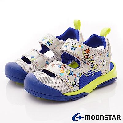 日本月星頂級童鞋 巴斯光年聯名護趾涼鞋 ON2337灰(中小童段)